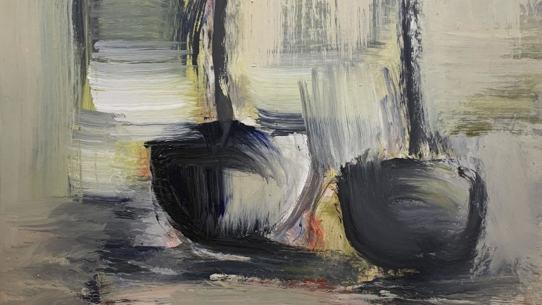 Boats, painting by Robert Sadler