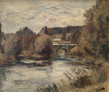 Bridge on the Avon, painting by Ronald Ossory Dunlop, RA