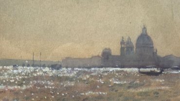 Bright Morning – Santa Maria della Salute Venice, painting by Ken Howard