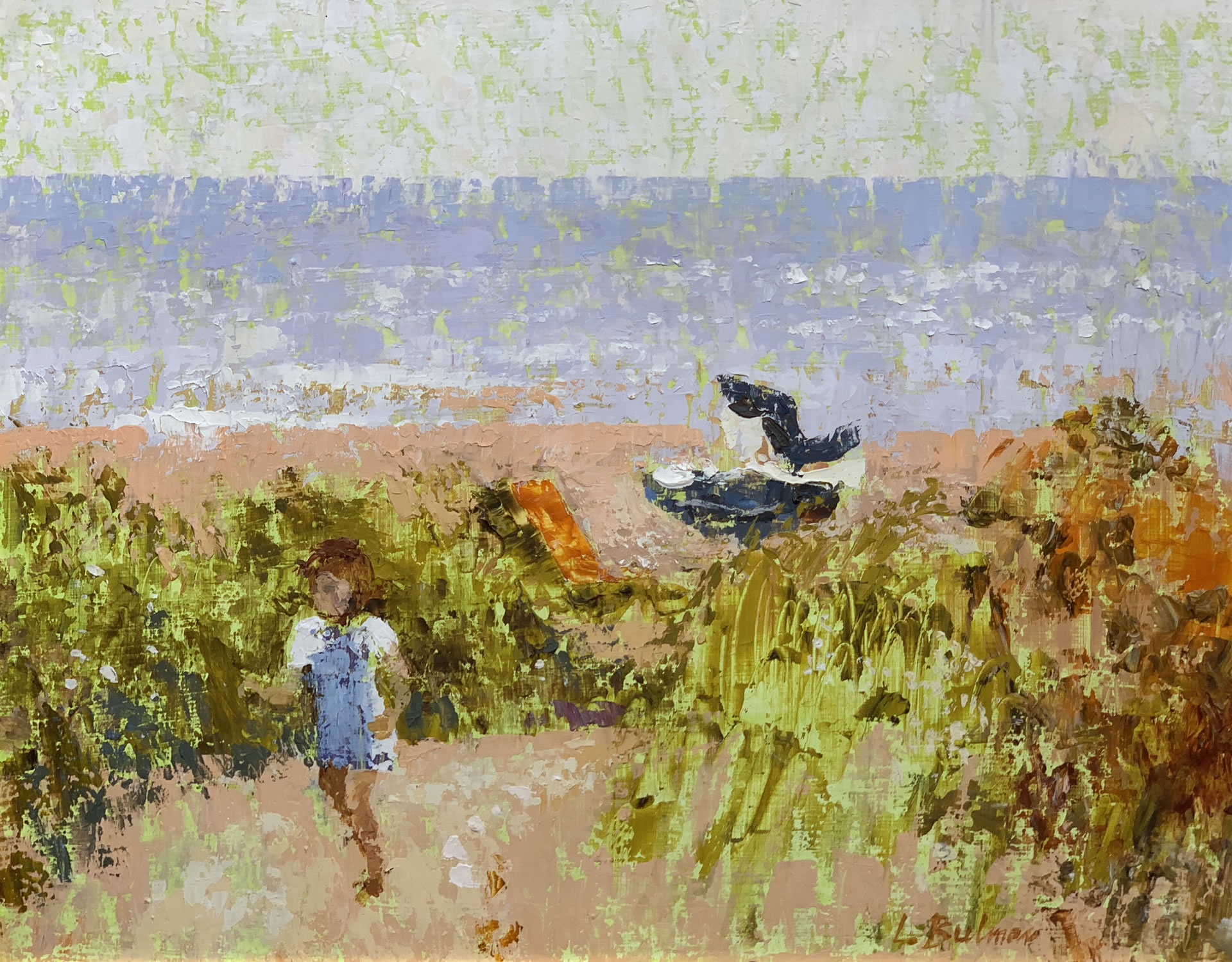 Child in the Dunes at Walberswick