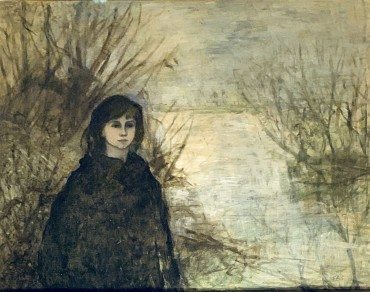 Girl by the Shore, painting by Elinor Bellingham Smith