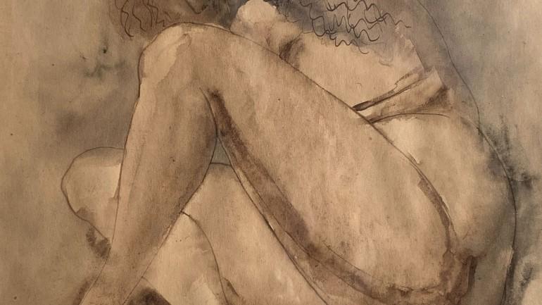 Last Furrow, drawing by Meninsky