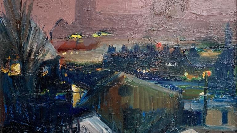 Night over Putney, painted by Lucette de la Fougere