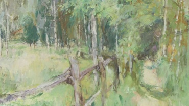 Path through the Woods, painting by Diana Armfield