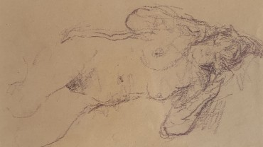 Reclining Nude, by Bernard Dunstan RA