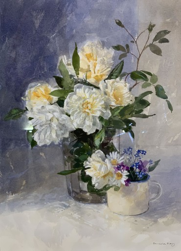 Roses, painting by Pamela Kay