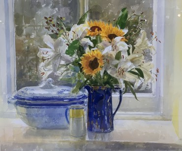 Sunflowers, painting by Pamela Kay