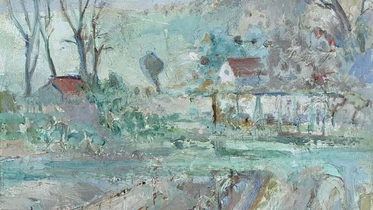 VIneyards, painting by Lucette de la Fougers