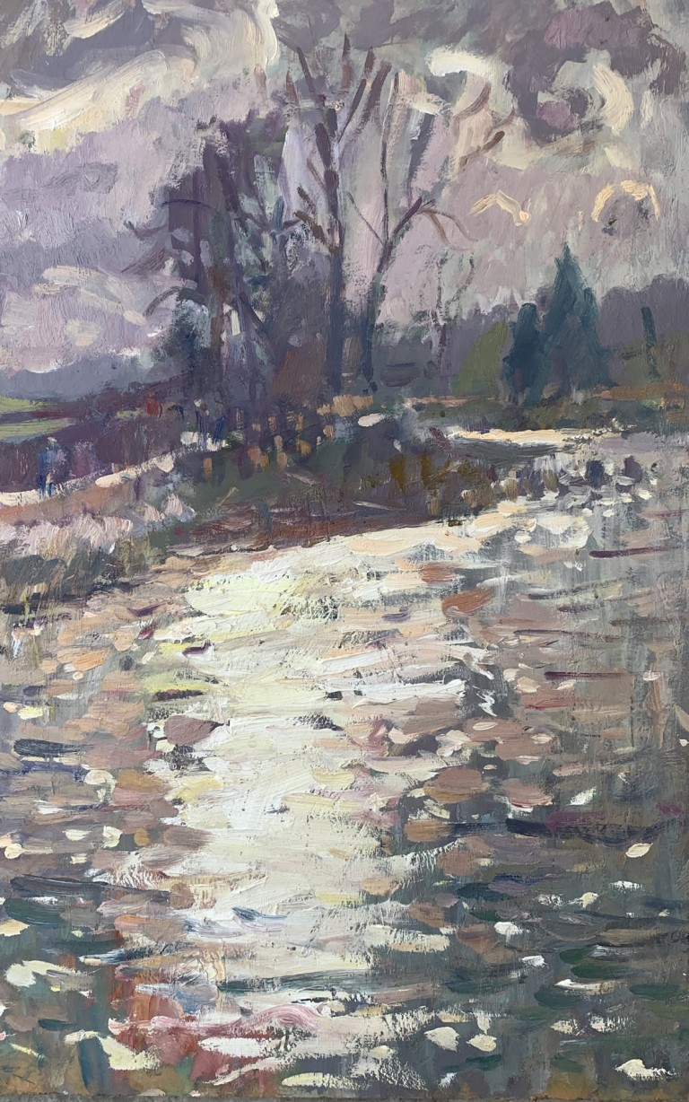 The Duck Pond, painting by Andrew Farmer