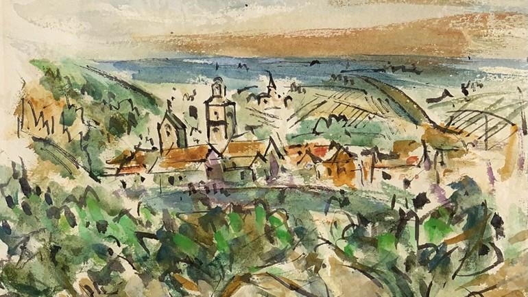 Riquewhier Alsace by Keith Baynes at Granta Fine Art of Cambridge