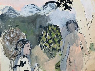 Dream Figures in Landscape by Gwyneth Johnstone at Granta Fine Art