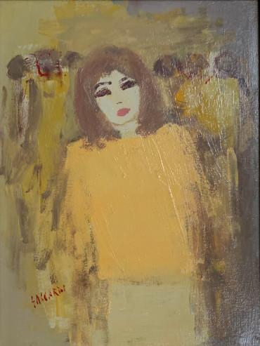 Girl in Yellow Dress by Carlos Saccardi at Granta Fine Art