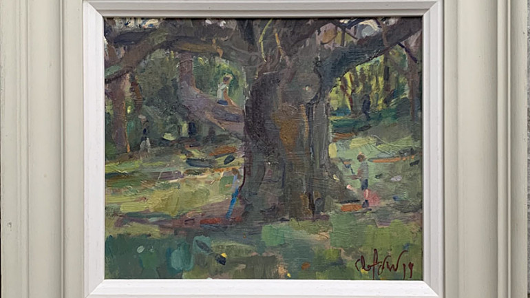 The Old Oak by Andrew Farmer ROI at Granta Fine Art