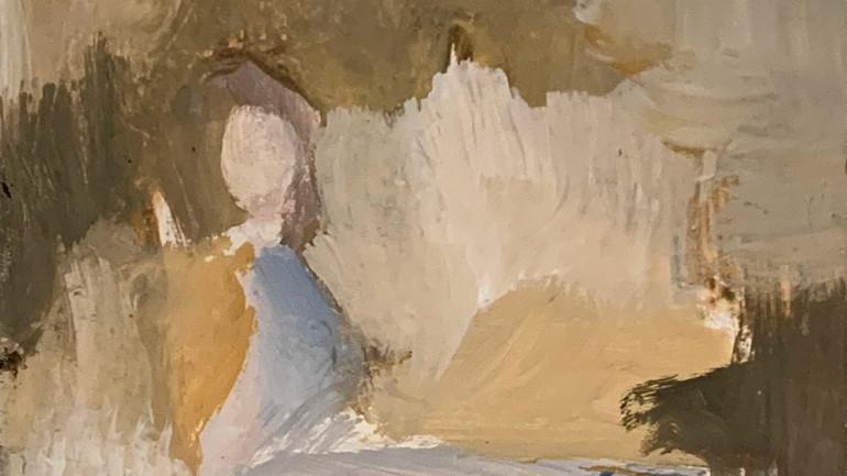 Girl in the Woods by Robert Sadler at Granta Fine Art of Cambridge