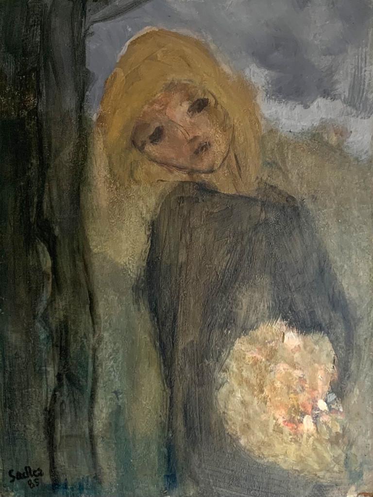 Girl with Flowers by Robert Sadler at Granta Fine Art of Cambridge