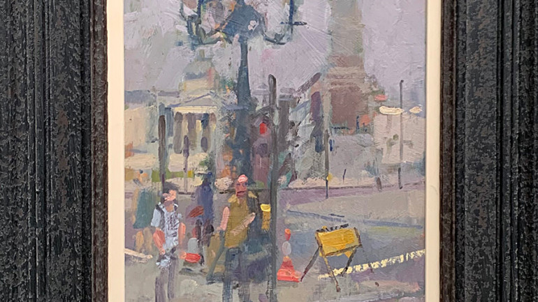 Trafalgar Square by Andrew Farmer at Granta Fine Art
