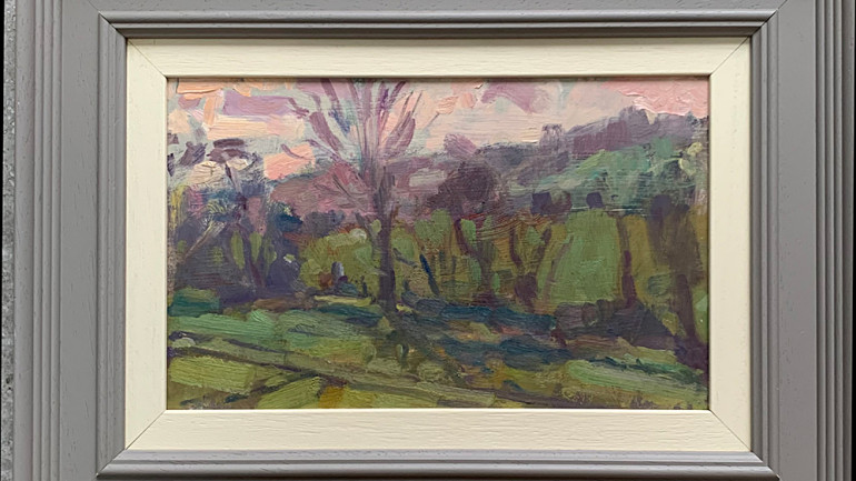 Tree Lined Hertfordshire by Andrew Farmer at Granta Fine Art