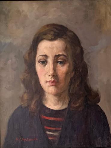 Portrait of Angela by Lenkiewicz at Granta Fine Art