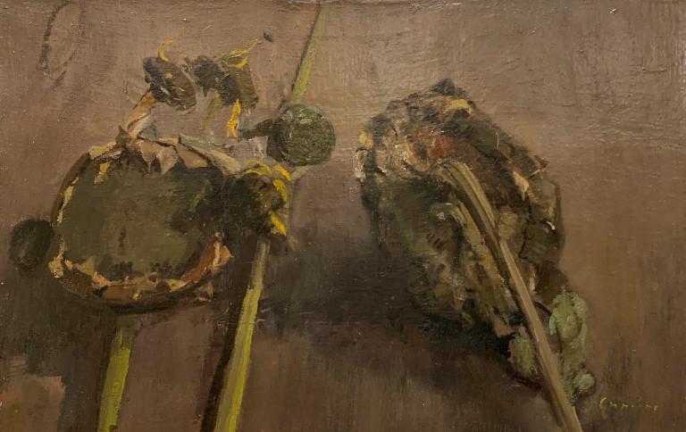 Sunflowers by Cuming at Granta Fine Art