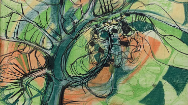 Thorn Bushes by Norma Jamieson at Granta Fine Art