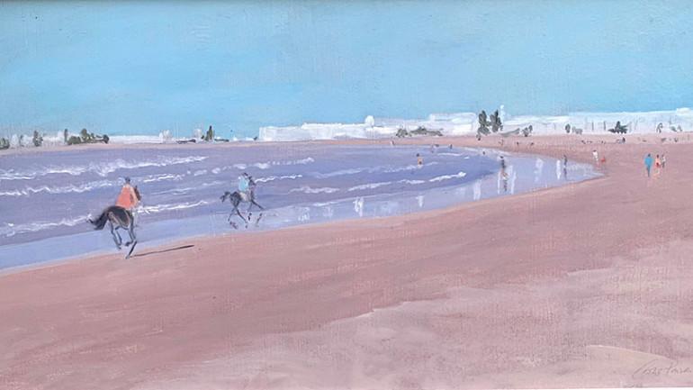 Galloping-Horses-Essauria-Morocco by Caroline Ponsonby at Granta Fine Art