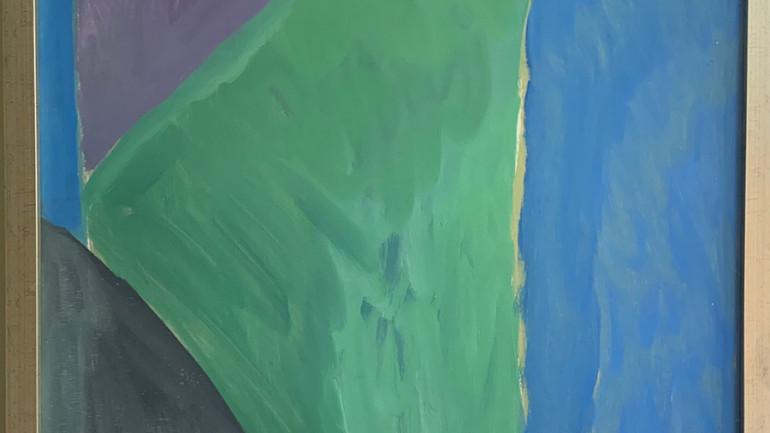 Chevron Blue & Violet by Beanland at Granta Fine Art