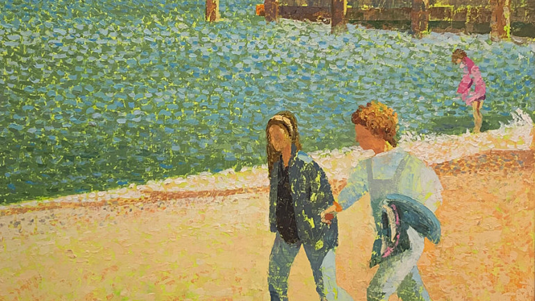 Couple by the Shore by Bulmer at Granta Fine Art