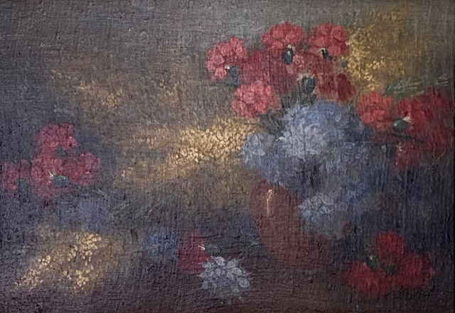 Impressionist Flowers in a bowl