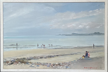 Figures on the Beach by Hermione Hammond at Granta Fine Art
