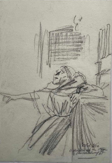 Romeo and Juliet, Friar Lawence by Dame Laura Knight DBE RA RWS at Granta Fine Art of Cambridge