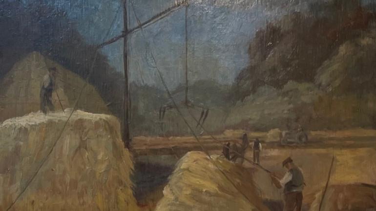 Loading Hay by Clifford Fishwick at Granta Fine Art