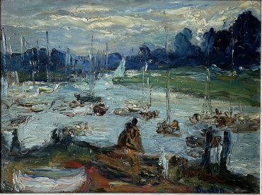 The Crowded River by Ronald Ossory Dunlop at Granta Fine Art