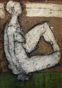 Seated Nude, painted by John Emanuele